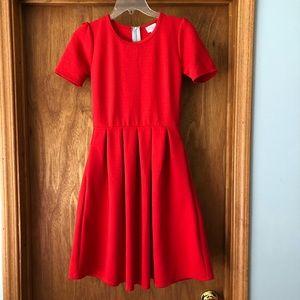 LuLaRoe red Amelia Dress XS
